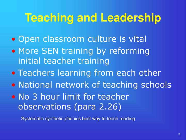 Teaching and Leadership