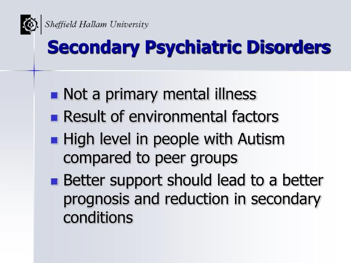 Secondary Psychiatric Disorders