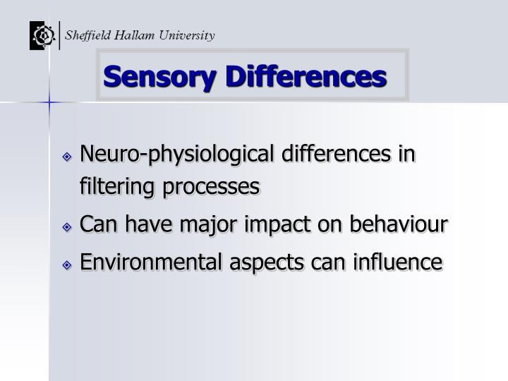 Sensory Differences