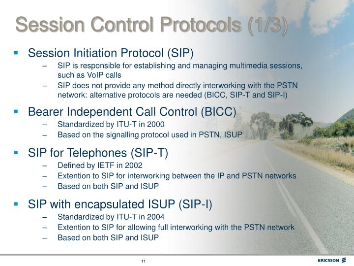 Session Control Protocols (1/3)