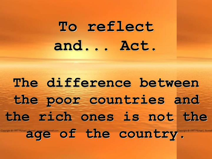 To reflect and