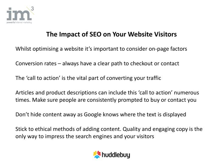 The Impact of SEO on Your Website Visitors