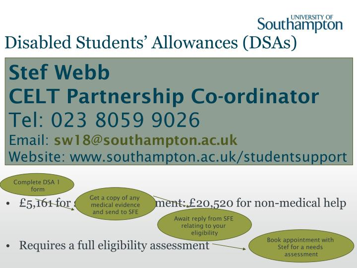 Disabled Students' Allowances (DSAs)