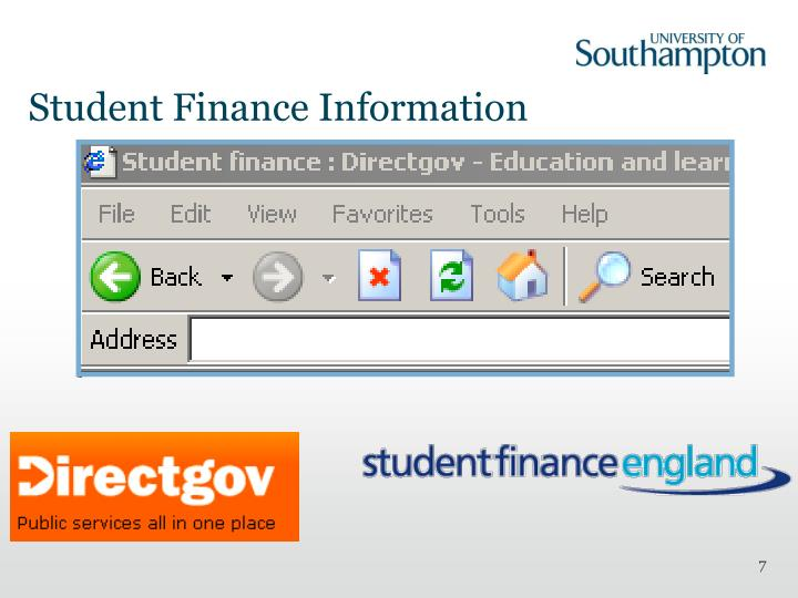 Student Finance Information