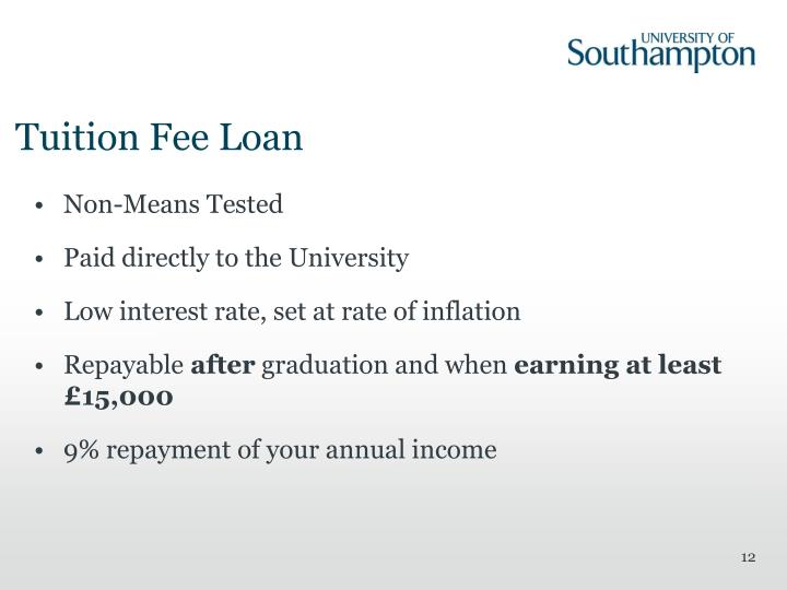 Tuition Fee Loan