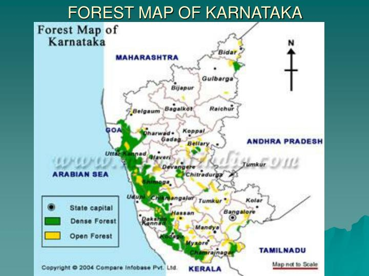 FOREST MAP OF KARNATAKA