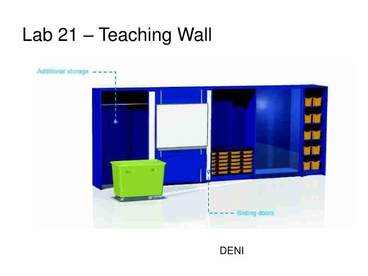 Lab 21 – Teaching Wall