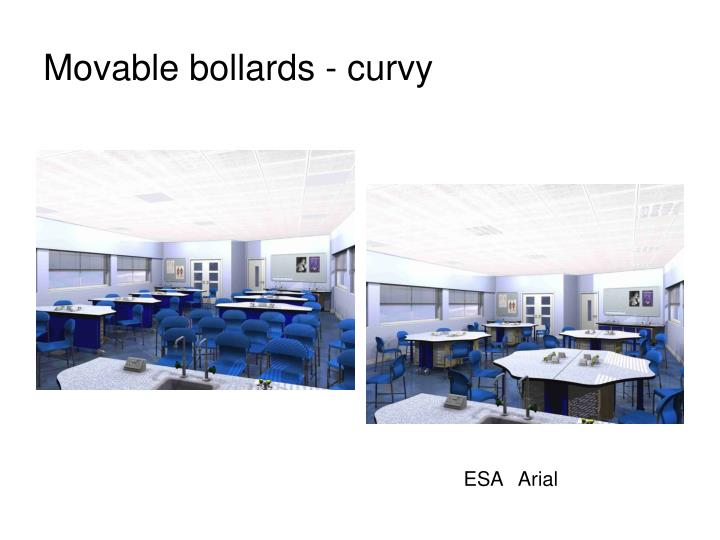 Movable bollards - curvy