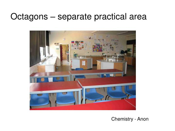 Octagons – separate practical area