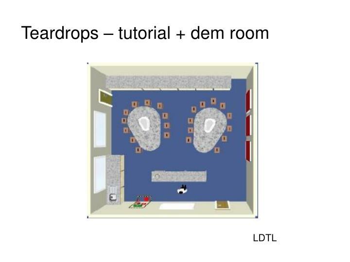 Teardrops – tutorial + dem room