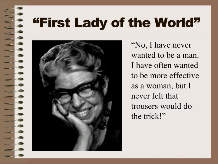 """First Lady of the World"""