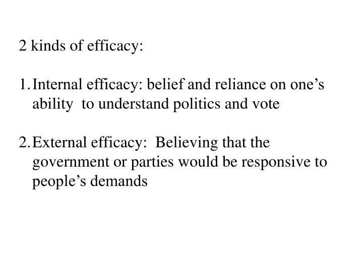 2 kinds of efficacy: