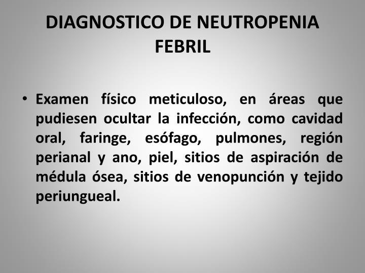 DIAGNOSTICO DE NEUTROPENIA FEBRIL