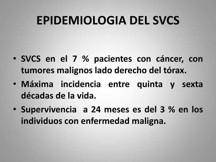 EPIDEMIOLOGIA DEL SVCS
