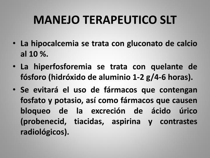 MANEJO TERAPEUTICO SLT