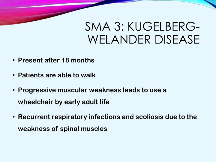 SMA 3: Kugelberg-Welander disease