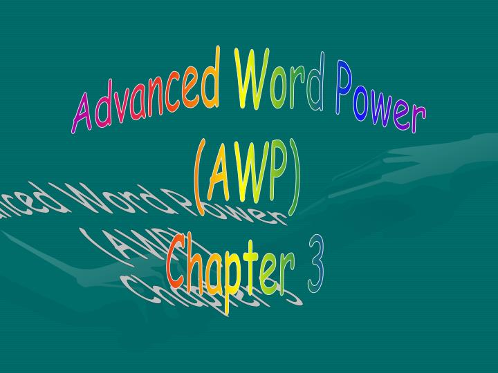Advanced Word Power