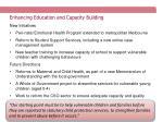 enhancing education and capacity building