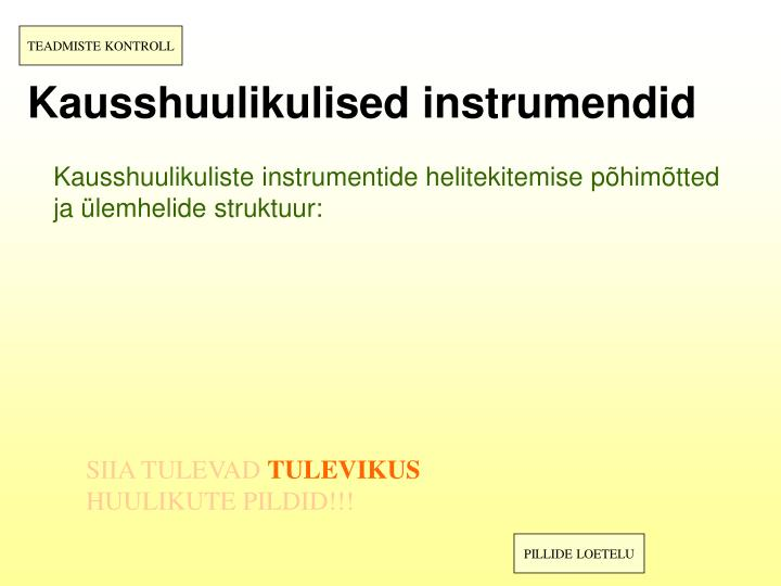 Kausshuulikulised instrumendid