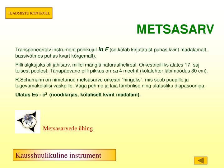 METSASARV