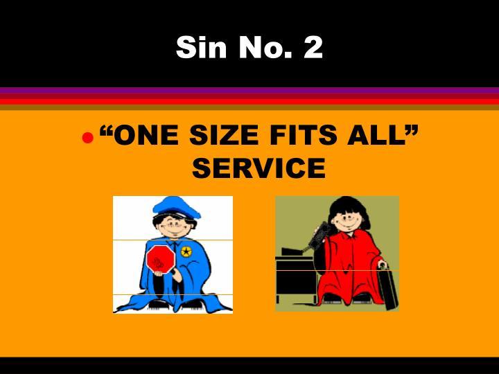 Sin No. 2