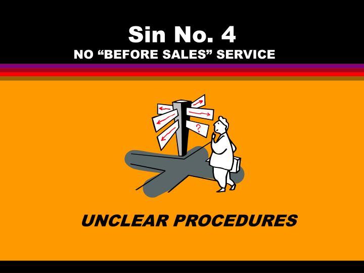 Sin No. 4