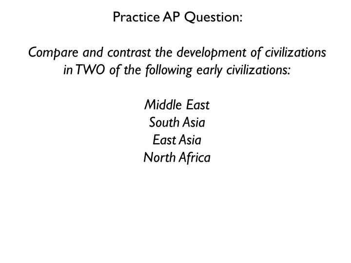 Practice AP Question: