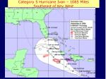 category 5 hurricane ivan 1085 miles southeast of key west