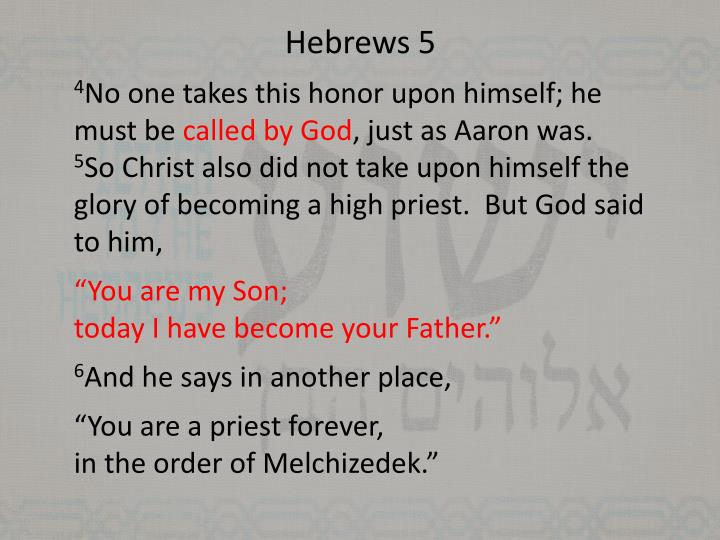 Hebrews 5