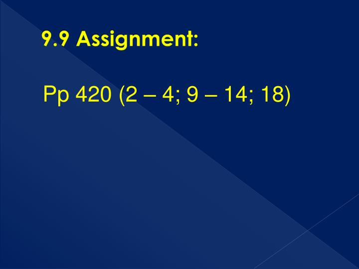 9.9 Assignment: