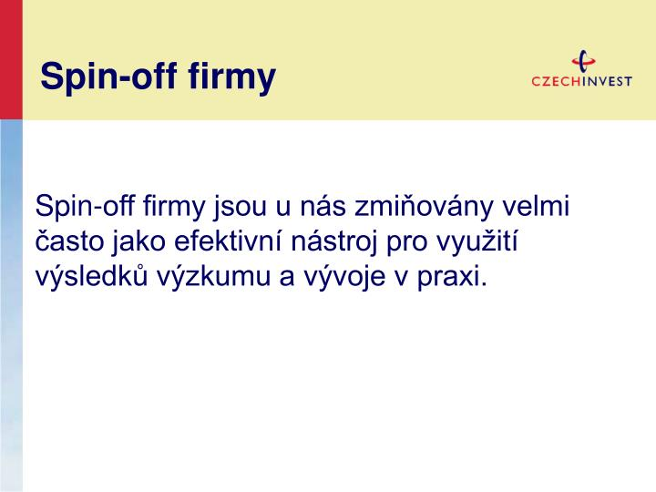 Spin-off firmy
