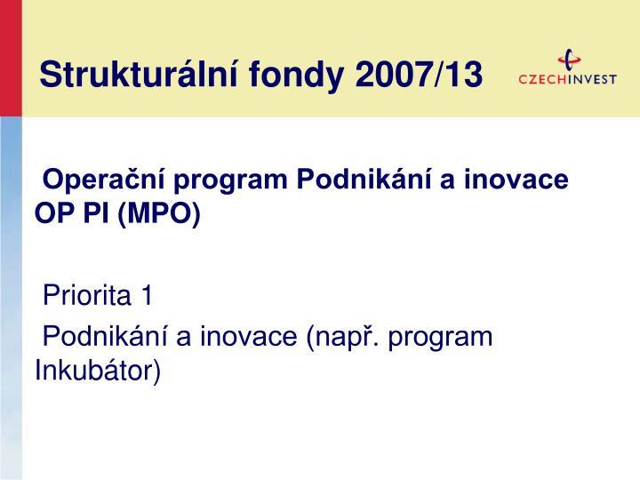 Strukturální fondy 2007/13