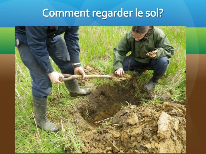 Comment regarder le sol?