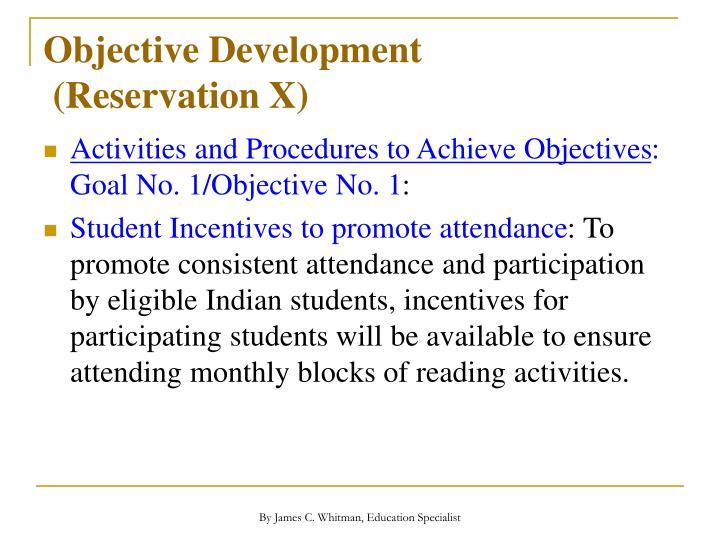 Objective Development