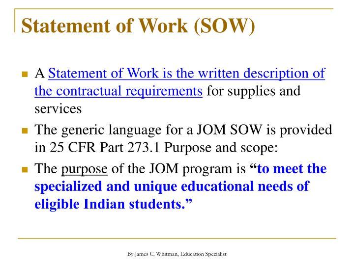 Statement of Work (SOW)