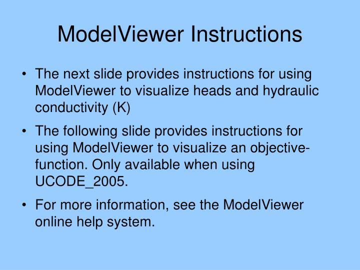ModelViewer Instructions