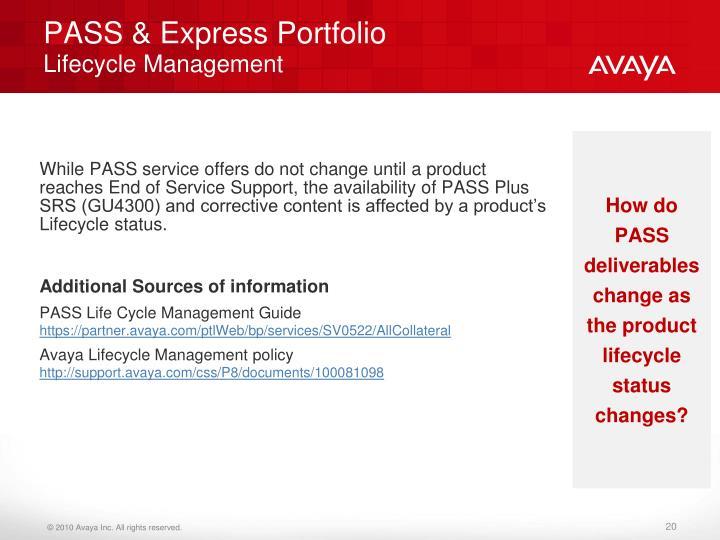 PASS & Express Portfolio