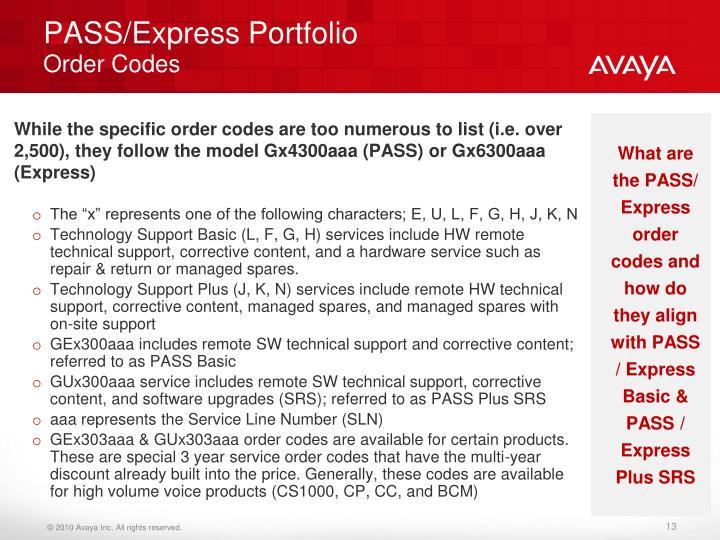 PASS/Express Portfolio