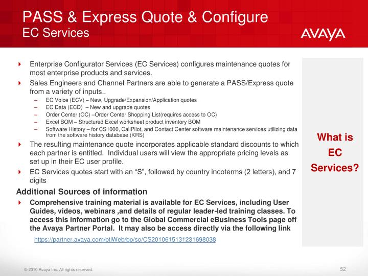 PASS & Express Quote & Configure