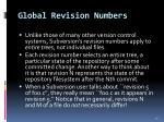 global revision numbers