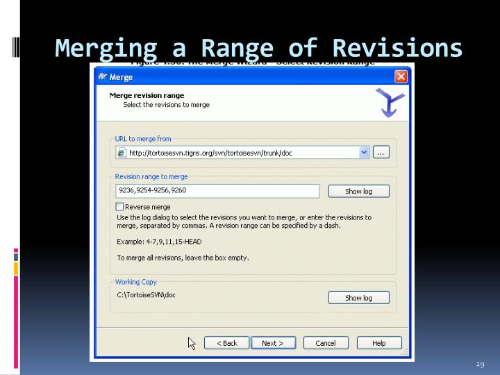 Merging a Range of Revisions