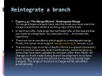 reintegrate a branch