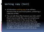 working copy test