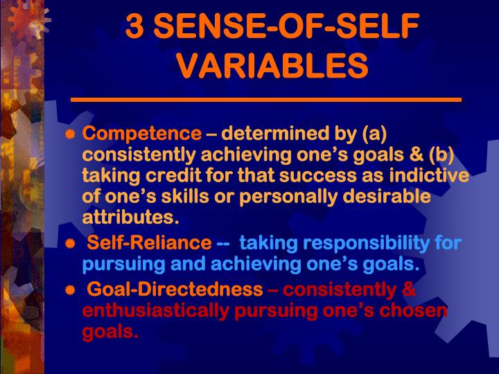 3 SENSE-OF-SELF VARIABLES