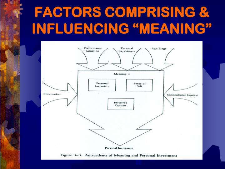 """FACTORS COMPRISING & INFLUENCING """"MEANING"""""""