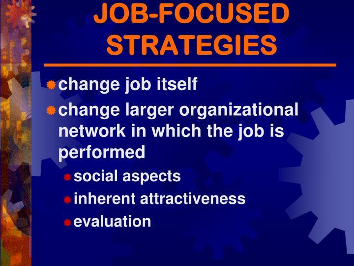 JOB-FOCUSED STRATEGIES