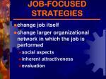 job focused strategies