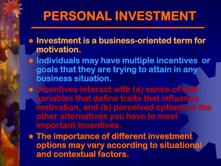 PERSONAL INVESTMENT