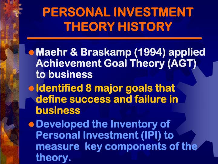 PERSONAL INVESTMENT THEORY HISTORY