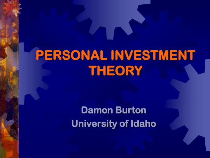 investment theory Working paper 2013:22 theories of investment: a theoretical review with empirical applications neoclassicalinvestmenttheoryistheoptimization.